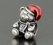 TEDDY BEAR WITH SANTA CLAUS HAT CHRISTMAS XMAS CHARM GENUINE BARGAIN SALE