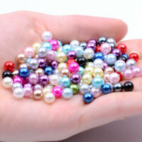 2-12mm No Hole Round Resin Imitation Pearls Beads DIY for jewellery making