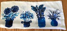 Kate Spade Blue Flowers Silk Oblong Throw Pillow Case Only Zippered NEEDS INSERT