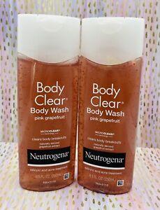 2x Neutrogena Body Clear Body Wash Pink Grapefruit 8.50 oz Each NEW