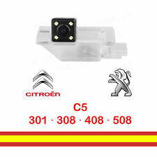 Camara de marcha atras para Peugeot 301 308 408 508 Citroen C5 en luz matricula