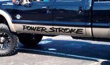 Pair Power Stroke Door banner vinyl stickers decals (fits to: Superduty Truck)
