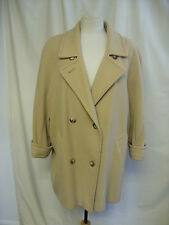 Mesdames manteau st. michael camel/beige pure laine, uk 14, légère ailes de chauve-souris, 0364