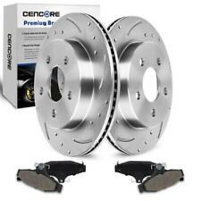 Rear Drilled Brake Rotors Ceramic Brake Pads For Pontiac Firebird Chevy 1993-97