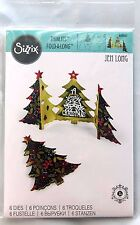 660665 Sizzix Thinlits Flier Christmas Fold-A-Long Tree Card 6 Dies NEW