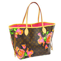 AUTH LOUIS VUITTON NEVERFULL MM SHOULDER TOTE BAG MONOGRAM ROSE M48613 BT15479j