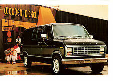 1980 Ford Econoline Van-Wooden Nickel Restaurant-Vintage Advertising Postcard