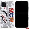 A Bathing Ape BAPE MCW Camo Hard Cover Case For iPhone 11 Pro Max XS XR 8 7 Plus