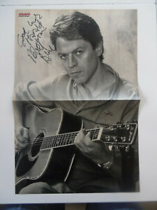 Robert Palmer signed poster folded autograph