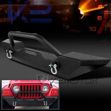 1987-2006 Jeep Wrangler YJ/TJ Black Front Offroad Bumper Guard+Winch Plate
