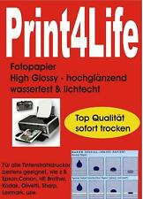 100 Blatt DIN A4 240g/m² Fotopapier HGlossy wasserfest lichtecht High Glossy AL