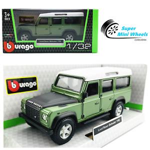 Bburago 1:32 Land Rover Defender 110 (Green w/ white top & black hood)