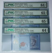 (PL) RM 1 GN 0004000 PMG 64 EPQ 1 PIECE ONLY RADAR FANCY LOW ALMOST SOLID NUMBER