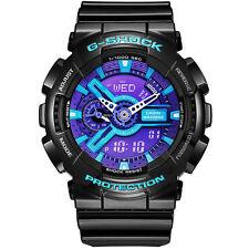 CASIO G-SHOCK Analog Digital 20ATM Men Sport Wrist Watch Purple Blue GA-110HC-1A