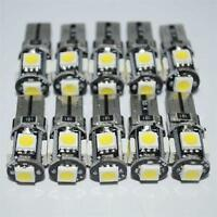 10x T10 Car Side Wedge Bulb light Canbus Error Free 5SMD LED 168 194 W5W White