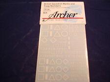 ARCHER FINE TRANSFERS BRITISH SQ MARKS & TROOPS NUMBERS IND BRIGAD AR35086W 1:35