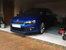 Vw scirocco mk 3 front lip spoiler splitter body kit, pu plastique. par htautos uk