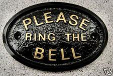 PLEASE RING THE BELL - HOUSE DOOR PLAQUE SIGN GARDEN