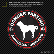 Danger Farting Anatolian Shepherd Sticker Decal Self Adhesive dog canine pet