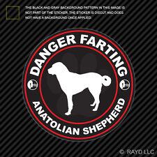 Danger Farting Anatolian Shepherd Sticker Decal Self Adhesive dog canine pet