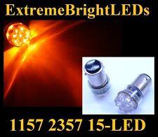 TWO AMBER 1157 2357 LED Signal Tail Brake Backup Lights