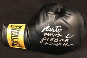 Roberto Manos de Piedra Duran SIGNED Everlast Boxing Glove PSA/DNA AUTOGRAPHED
