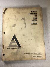 Allis Chalmers 745 Wheel Loader Parts Catalog