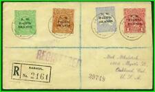 North West Pacific Is 1919 Superb & Rare Registered Cover {R2161} to Oakland 19