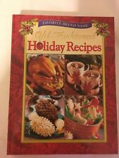 OLD FASHION HOLIDAY RECIPES WITH PICTURES ~ Large Heavy Book