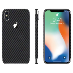 Textured Carbon Vinyl Phone Protection wrap skin sticker for Apple iPhone X, 10