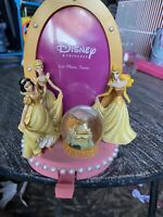 Disney Princess Picture Frame Girls Home Decor Snowglobe Disney Figure W Hook