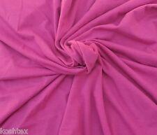 Raspberry Organic Cotton Spandex Fabric Jersey Knit Eco-Friendly By Yard 4/16