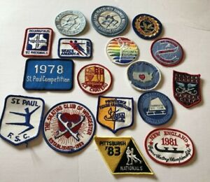 Lot of vintage sew on skating  patches includes 81 Worlds & Skate America