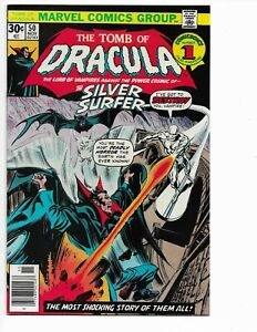 TOMB OF DRACULA 50 - VF/NM 9.0 - BATTLING THE SILVER SURFER (1976)