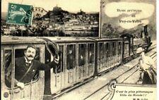 (S-40572) FRANCE - 43 - LE PUY CPA DESSIN TRAIN - VUE GENERALE DU PUY EN MEDAILL