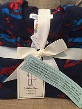 NWT Pottery Barn Kids Size 4 Spider-man Super Hero Flannel Pajamas