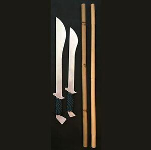 TRAINING SETS FOR FILIPINO MARTIAL ARTS (Long and short swords + rattan sticks)
