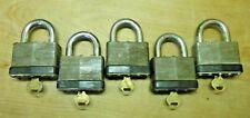 5 Pcs, Big Master-Lock High Security Padlocks No.15, Keyed Alike 10N477