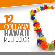 COLLANA HAWAII MULTICOLOR 12 pz festa hawaiana fiori finti floreale party 706130