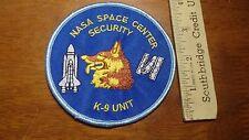 NASA SPACE CENTER FLORIDA  SECURITY POLICE K9 UNIT  space apollo  PATCH   BX P#9