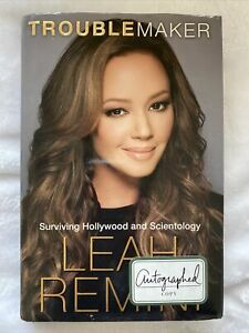 Signed Leah Remini Troublemaker Surviving Hollywood Scientology Book Autographed
