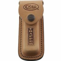 "Case XX Brown Leather Trapper Pocket Knife 5"" Sheath 980 USA"