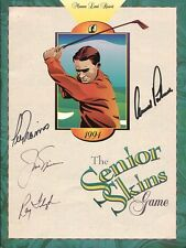 ARNOLD PALMER+JACK NICKLAUS+LEE TREVINO+RAY FLOYD HAND SIGNED GOLF PROGRAM   JSA
