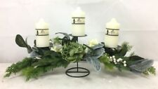 New Christmas Floral Candle Centrepiece Xmas Candle Holder Stand Home Decor