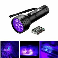 51 LEDs UV Taschenlampe, 395nm Schwarzlicht mit Batterien, Handlampe UV-Licht