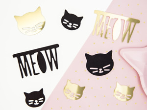 KITTY PARTY TABLE CONFETTI - PINK / GOLD / BLACK TABLE CONFETTI - GIRLS BIRTHDAY
