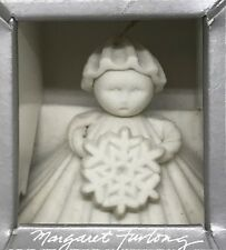 Margaret Furlong 1988 3 Inch Snowflake Winter Angel Nib Ornament Pristine Retro