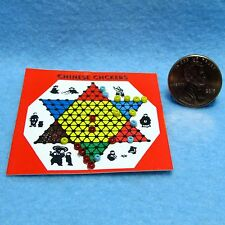 Dollhouse Miniature Chinese Checkers Game Board ~ CARM2513