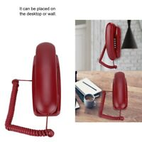 Landline Corded Phone Wall Mounted Land-line Wired Home Office Fixed Telephone