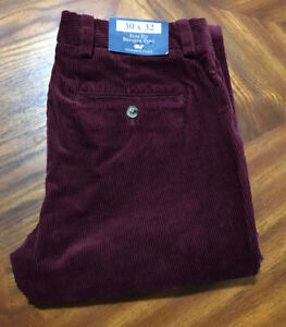 Vineyard Vines 5-Pocket Pant Corduroy Mens 30x32 Burgundy Red 100% Cotton NWT